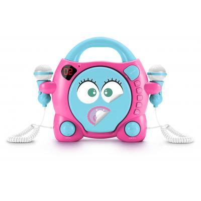 Bigben interactive CD speler: Big Ben, Portable CD Player met 2 Microphones - My Mia (Roze / Blauw)