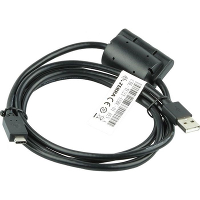 Zebra USB C cable, Black USB kabel - Zwart