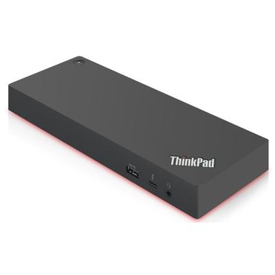 Lenovo ThinkPad Thunderbolt 3 Dock Gen 2, EU Docking station - Zwart,Rood
