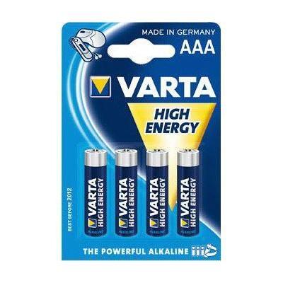 Varta batterij: 1x4 High Energy AAA LR 03 - Blauw