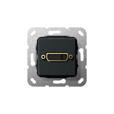 GIRA Basiselement DVI (24+5) Verloopkabel, zwart mat Wandcontactdoos