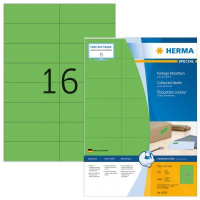 Herma etiket: Etiketten groen 105x37 A4 1600 st.