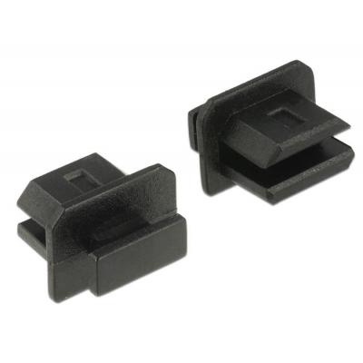 Delock fitting-cove: Dust Cover for mini Displayport female with grip 10 pieces black - Zwart