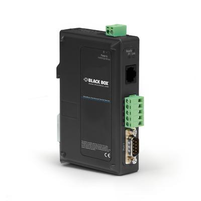 Black Box 1xDB9, 1xRJ-45, IP30, 81 x 119 x 30mm, 100g, Black Seriele server - Zwart