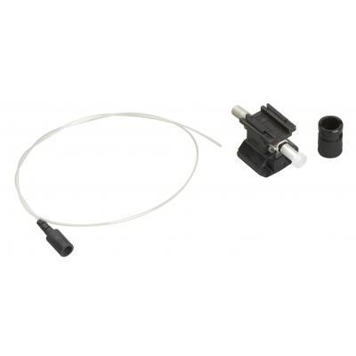 Black Box OM2 50-Micron Multimode Pre-Polished Fiber Optic Connector - ST, Black, 12-Pack - Zwart