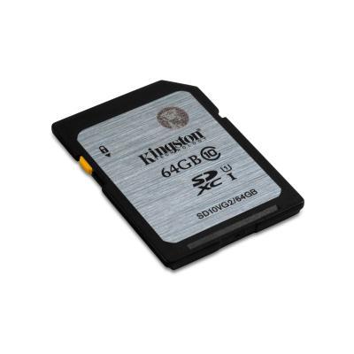 Kingston technology flashgeheugen: Class 10 UHS-I SDXC 64GB - Zwart, Grijs