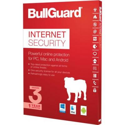 Bullguard software: Internet Security 1Y, 1PC, 100MB 25Pack OEM