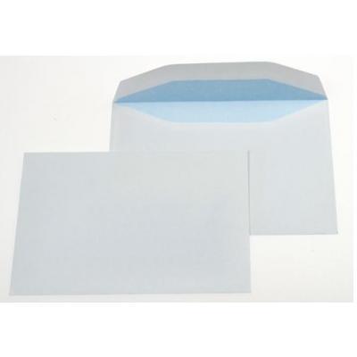 Gallery envelop: Ft 114 x 162 mm (C6) gegomd, blauwe binnenzijde - Wit