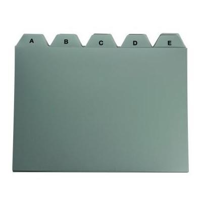 5star indextab: Tabbladen voor systeemkaartenbakken ft A6 - Grijs