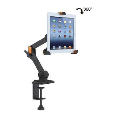 Value Tafelvoor iPad, Ebook, Tablet 4 draaipunten Houder - Zwart