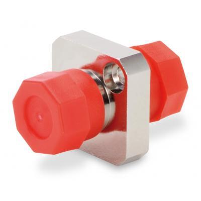 Spaun SOK FC/PC Fiber optic adapter - Rood, Zilver
