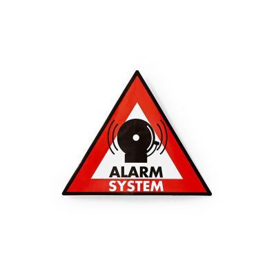 Nedis PVC, 0.25mm, 5 pcs waarschuwingsbord - Zwart, Rood, Wit