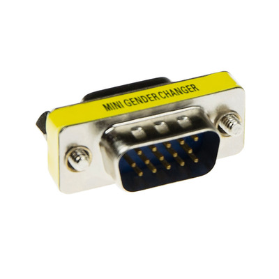 ACT High Density D-sub Adapter 15 pole male naar 15 pole female Kabel adapter