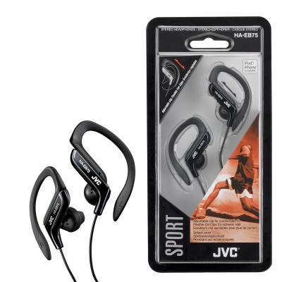 Jvc koptelefoon: Ear clip sporthoofdtelefoon zwart