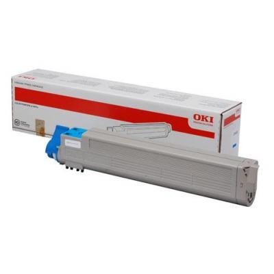 OKI cartridge: 43837131, Cyan toner, 22000p