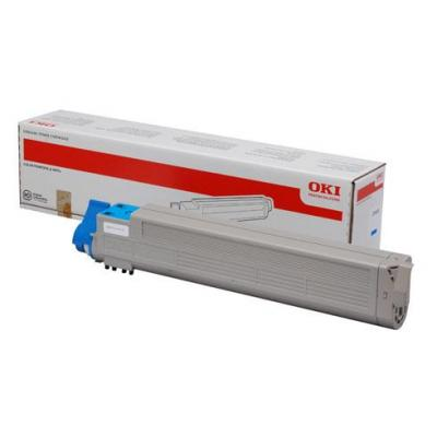 OKI cartridge: 43837131, Cyan toner, 22000p - Cyaan