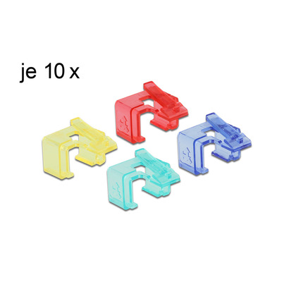 DeLOCK RJ45 Repair Clip Set 1 Kabelklem - Multi kleuren
