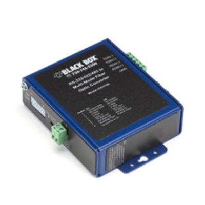 Black Box Industrial Opto-Isolated Serial to Fiber Multimode ST Converter Seriele converter/repeator/isolator .....