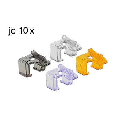 DeLOCK RJ45 Repair Clip Set 2 Kabelklem - Multi kleuren
