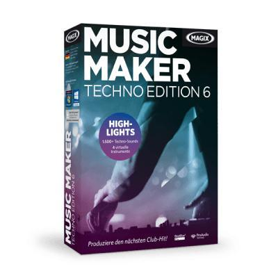 Magix audio software: Music Maker Techno Edition 6
