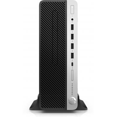 Hp pc: ProDesk ProDesk 600 G3 Small Form Factor PC - Zwart, Zilver (Demo model)
