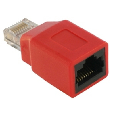 DeLOCK RJ45 Crossover Adapter male - female kabel connector - Rood