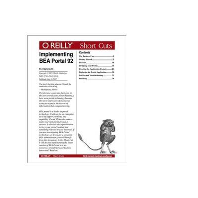 O'reilly boek: Media Implementing BEA Portal 92 - eBook (PDF)