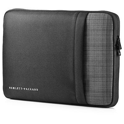 "Hp laptoptas: UltraBook 14"" Sleeve - Zwart, Grijs"