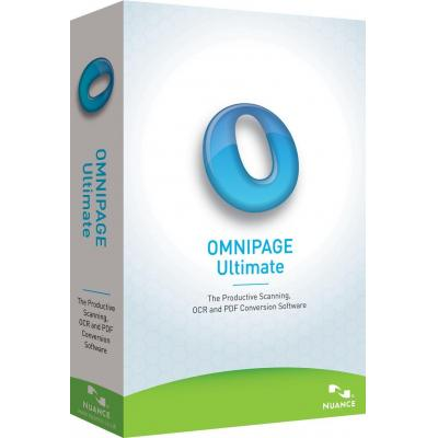 Nuance OCR software: OmniPage Ultimate, EDU