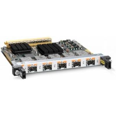 Cisco netwerkkaart: 5-Port Gigabit Ethernet Shared Port Adapter, Spare - Roestvrijstaal
