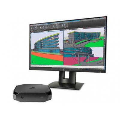 Hp pc: WORKSTATION BUNDEL (1CC46EA+K7B99AT) Z2 mini Intel 4Core Xeon E3-1245v5 + Z24n monitor - Zwart