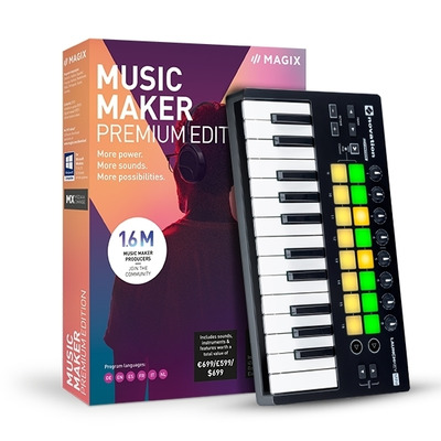 Magix , Music Maker Performer Edition (Incl. Luxe Keyboard) Audio software