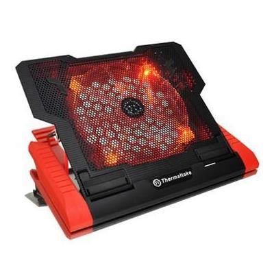 Thermaltake Massive 23 GT Notebook koelingskussen - Zwart, Rood