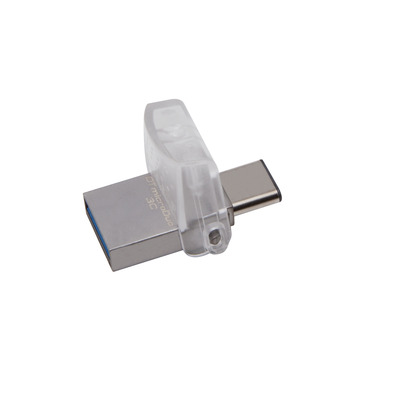 Kingston technology USB flash drive: DataTraveler microDuo 3C 128GB - Zilver