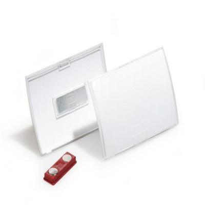 Durable badge: BADGE CLICK FOLD 8212 40X75MM - Transparant