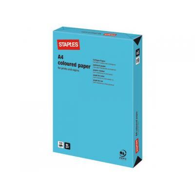 Staples papier: Papier SPLS A4 80g azuurblauw/pak 500v
