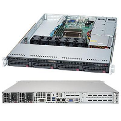 Supermicro 5019S-WR Server barebone - Zwart