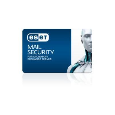 Eset software licentie: Mail Security f/ Microsoft Exchange Server