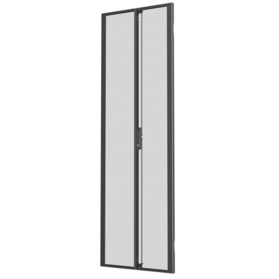 Vertiv 48U x 800mm, Wide Split, Perforated Doors, Black, 2x Rack toebehoren - Zwart