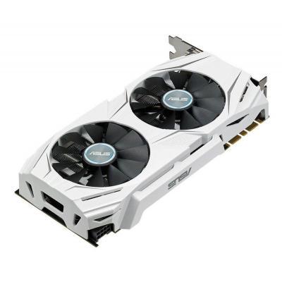 Asus videokaart: AMD Radeon RX 480, PCI Express 3.0, GDDR5 4GB, OpenGL 4.5, 7000 MHz, 256-bit - Zwart, Wit