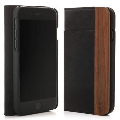 Woodcessories EcoWallet Mobile phone case - Zwart, Walnoot