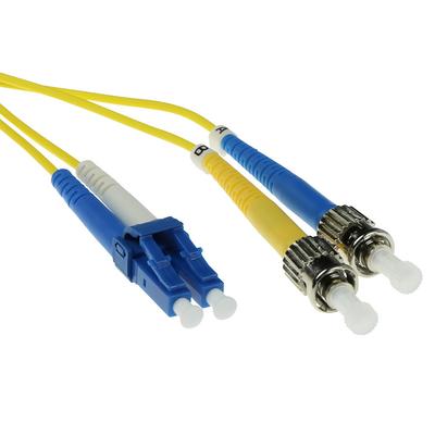 ACT 5m LSZH Singlemode 9/125 OS2 glasvezel patchkabel duplexmet LC en ST connectoren Fiber optic kabel - Geel