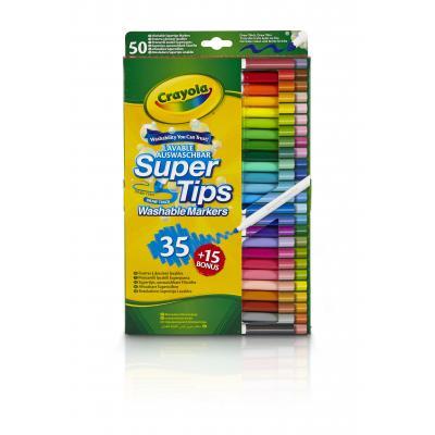 Crayola verf stift: 35+15 Viltstiften met superpunt - Veelkleurig