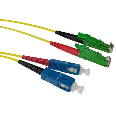 ACT 10m LSZH Singlemode 9/125 OS2 glasvezel patchkabel duplexmet E2000/APC en SC/UPC connectoren Fiber optic kabel - .....