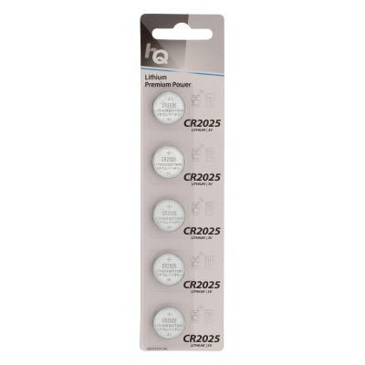 Hq batterij: Lithium Button Cell Battery CR2025 3 V 5-Blister
