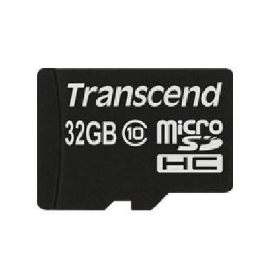 Transcend flashgeheugen: MicroSDHC 32GB - Zwart