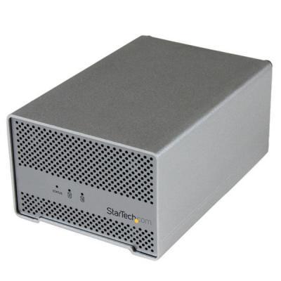 StarTech.com behuizing: Thunderbolt harde-schijfbehuizing met Thunderbolt-kabel dubbele bay 2,5 inch HDD-behuizing met .....