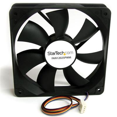 StarTech.com 120x25mm Ventilator Computerbehuizing met PWM Pulse Width Modulation Hardware koeling - Zwart