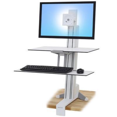 Ergotron multimedia kar & stand: WorkFit-S  - Wit