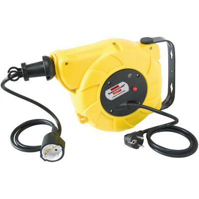 Brennenstuhl power extrention: Automatic cable reel, IP20, 9+2m - Geel